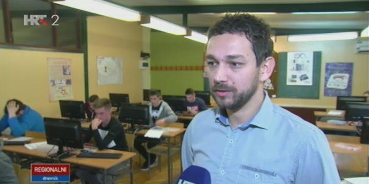 Reportaža o učenicima i profesorima naše škole u Dnevniku HRT-a