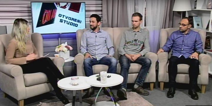 Gostovanje naših učenika i profesora u emisiji Otvoreni studio Slavonske televizije